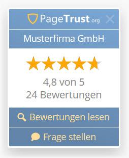 Gütesiegel für Website mit Kundenbewertungen