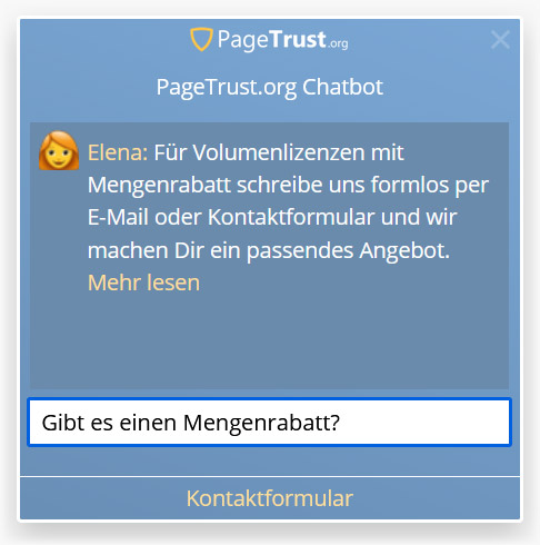 Website Chatbot von PageTrust